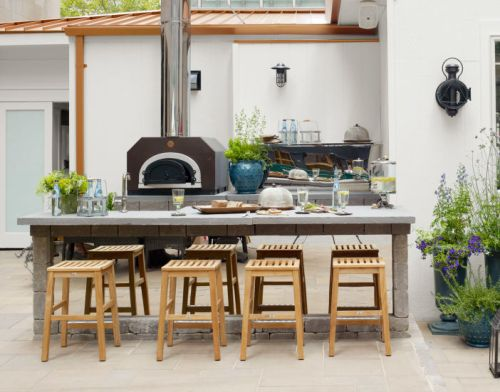 Dapur Outdoor Berukuran Kecil Di Belakang Rumah Housebeautiful