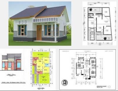 Desain utama rumah Sederhana Minimalis 3 kamar tidur