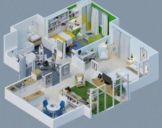 Gambar Rumah Sederhana 3 Kamar Tidur Minimalis 2 Desain Alternatif