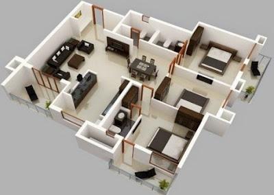 desain rumah sederhana 1 lantai 3 kamar