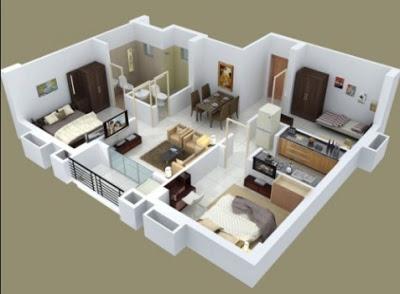 foto rumah minimalis 3 kamar tidur