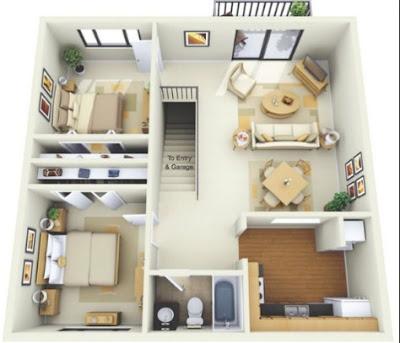 foto rumah minimalis sederhana 1 lantai 2 kamar
