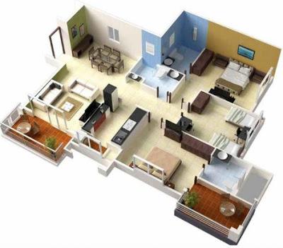 foto rumah sederhana 1 lantai 3 kamar