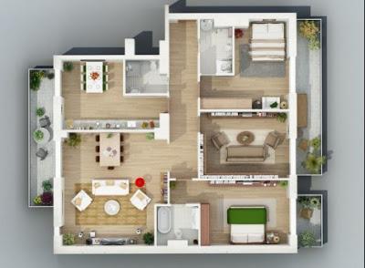 foto rumah sederhana 3 kamar tidur