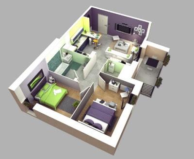 gambar rumah minimalis 2 kamar type 36