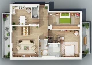 gambar rumah sederhana 2 kamar