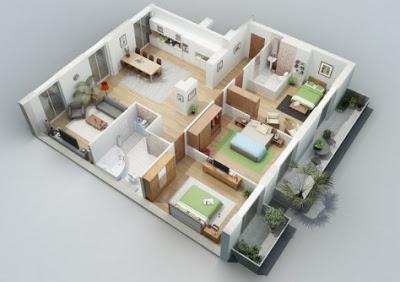 gambar rumah minimalis 3 kamar tidur satu lantai