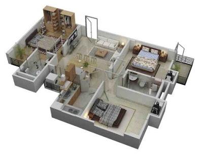 gambar rumah sederhana 1 lantai 3 kamar