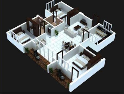 gambar rumah sederhana 3 kamar tidur