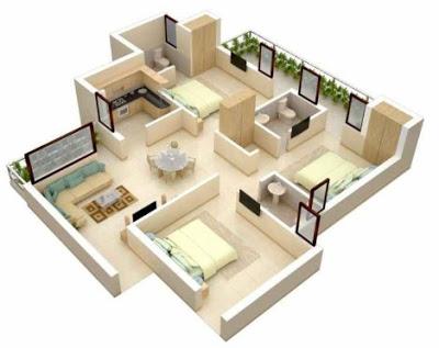 interior Desain utama rumah Sederhana Minimalis 3 kamar tidur