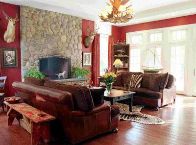 model ruang keluarga rumah minimalis