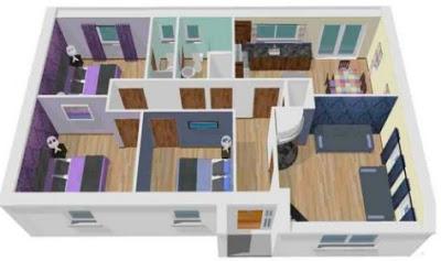 rumah minimalis 3 kamar 3d