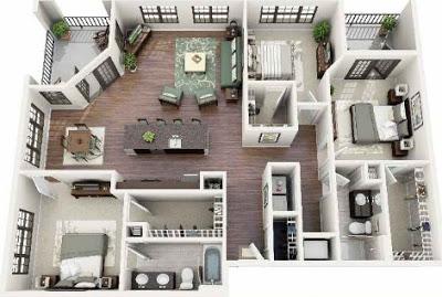 rumah minimalis 3 kamar satu lantai