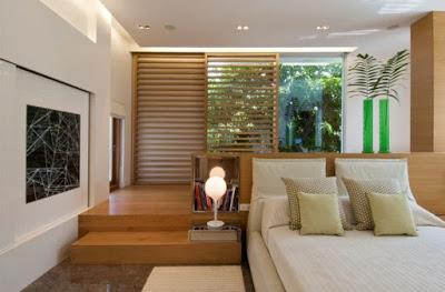 Desain kamar tidur rumah mewah minimalis lantai atas