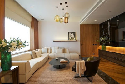 Desain ruang keluarga rumah mewah minimalis lantai atas