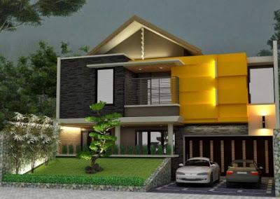 Rumah mewah minimalis dengan garasi didepan