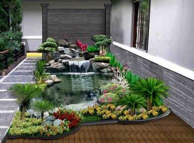 Rumah mewah minimalis dengan taman indah