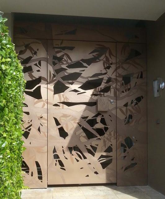 bentuk pintu depan rumah minimalis modern