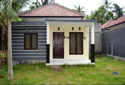 bentuk rumah sangat sederhana di desa