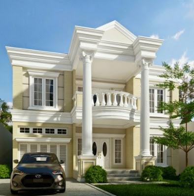 desain klasik Rumah Mewah 2 Lantai
