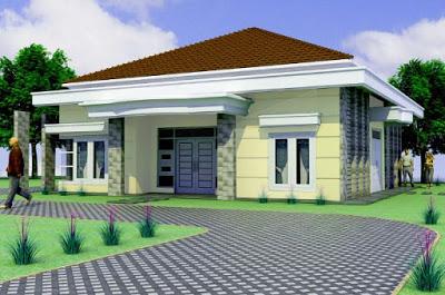 desain model rumah idaman 1 lantai