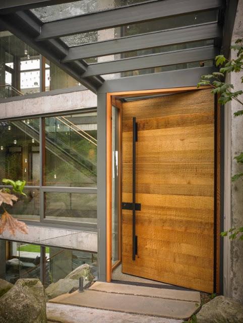 desain pintu rumah minimalis kayu sederhana
