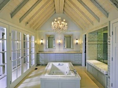 desain plafon kamar mandi dari kayu
