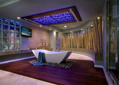 desain plafon kamar mandi klasik