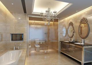 desain plafon kamar mandi modern