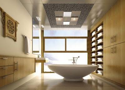 desain plafon kamar mandi unik