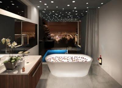 desain plafon kamar rmandi minimalis