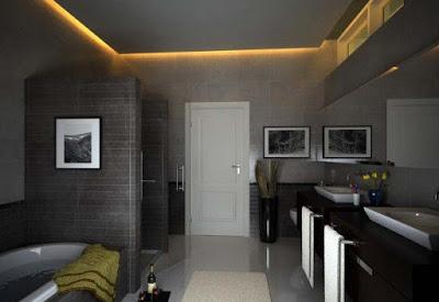 desain plafon kamar rmandi terbaru