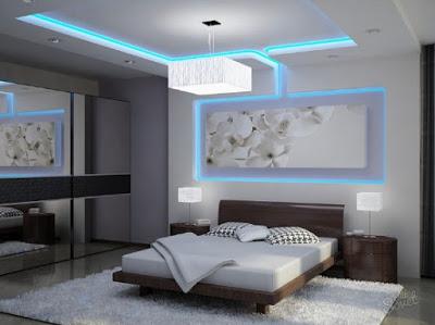desain plafon kamar tidur modern