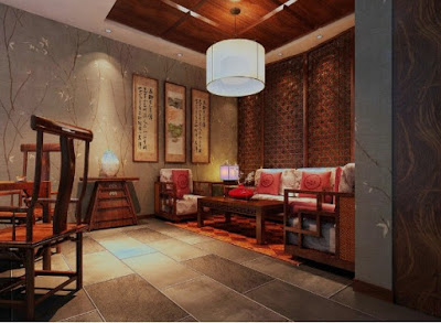 desain plafon ruang keluarga dari kayu