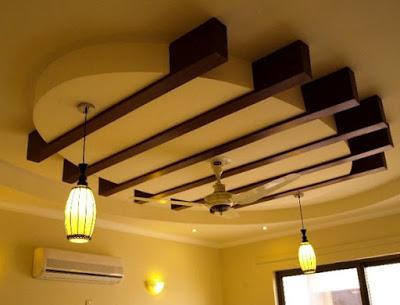 desain plafon ruang keluarga terbaru