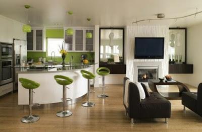 desain plafon ruang makan mewah