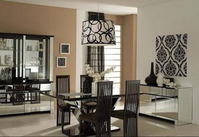 desain plafon ruang makan minimalis