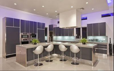 desain plafon ruang makan modern