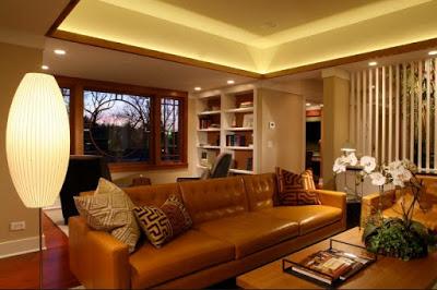 desain plafon ruang tamu modern