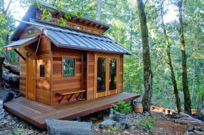 desain rumah kayu kecil minimalis