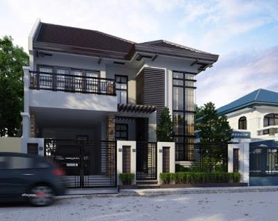 desain rumah mewah minimalis 2 lantai modern