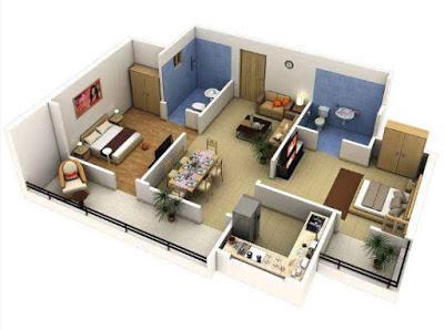 desain rumah minimalis 1 lantai 1 kamar tidur