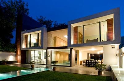 foto bentuk rumah minimalis 2 lantai modern