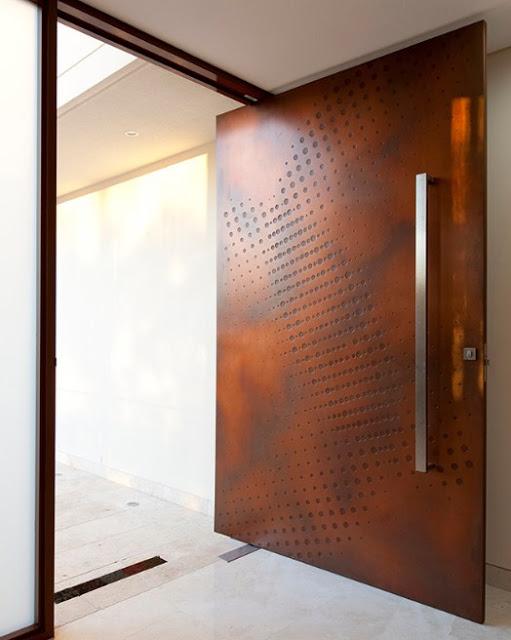 foto pintu depan rumah minimalis modern