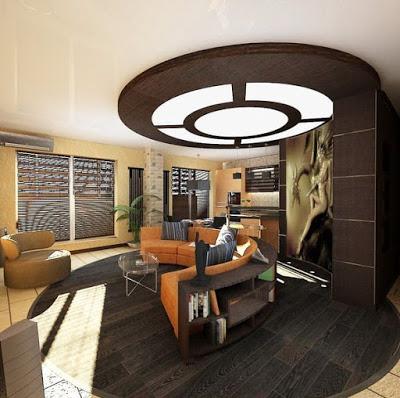 foto plafon ruang keluarga minimalis
