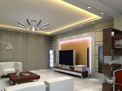 foto plafon ruang tamu minimalis