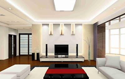 foto plafon rumah minimalis warna putih