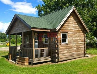 foto rumah kayu minimalis sederhana