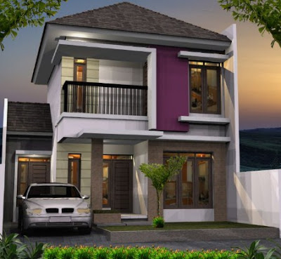 foto rumah minimalis 2 lantai type 70 sederhana