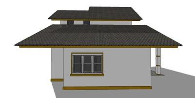 foto rumah minimalis sederhana 2 lantai dari belakang